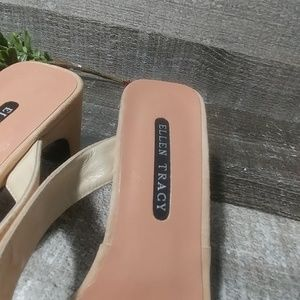 Ellen Tracy Shoes - ELLEN TRACY blush block heeled sandles